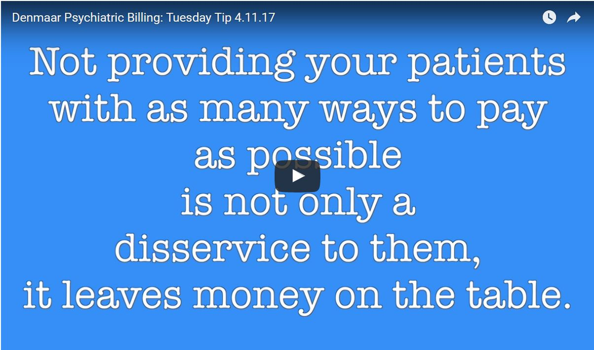 Why do you need to provide your patients as many ways to pay their bills as possible?