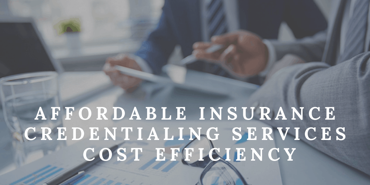 Affordable Insurance Credentialing Services-Cost Efficiency